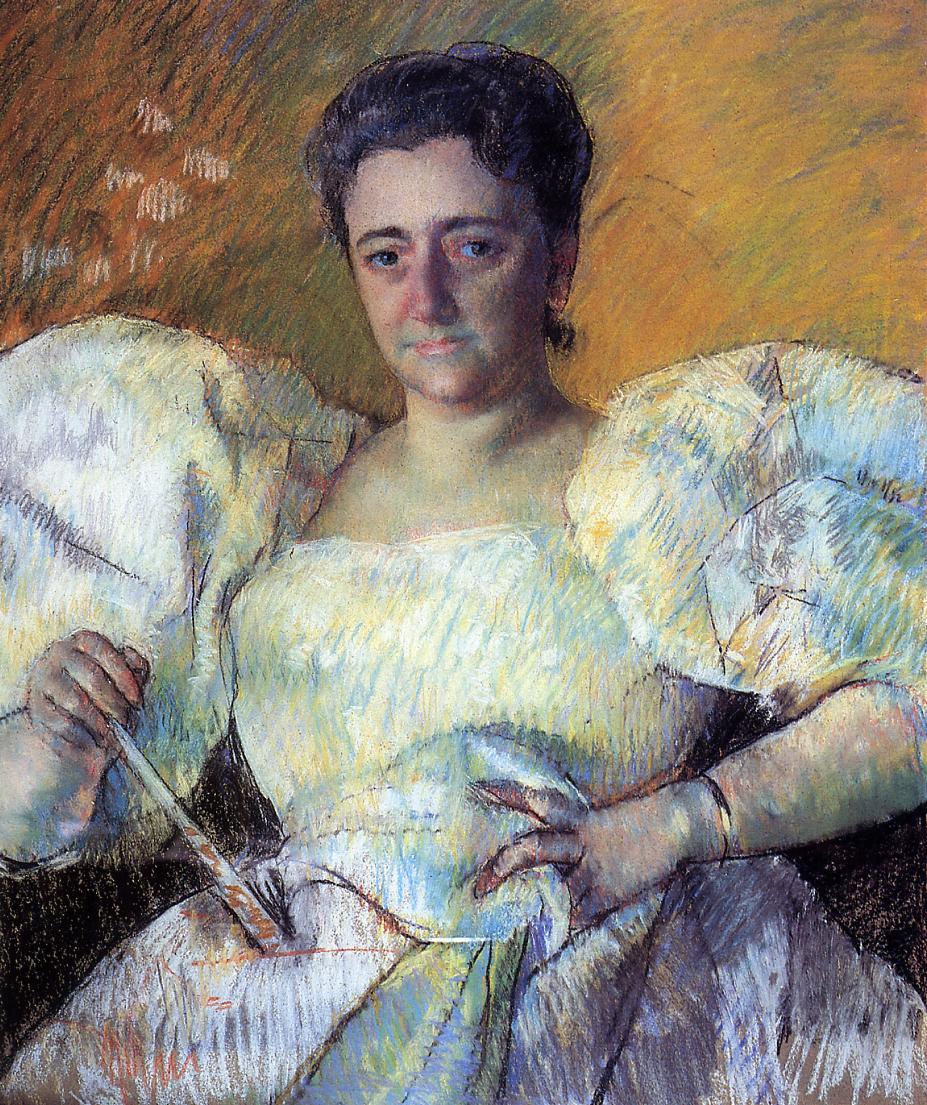 Portrait of Mrs. H. O. Hevemeyer 1896   Mary Cassatt   Oil Painting