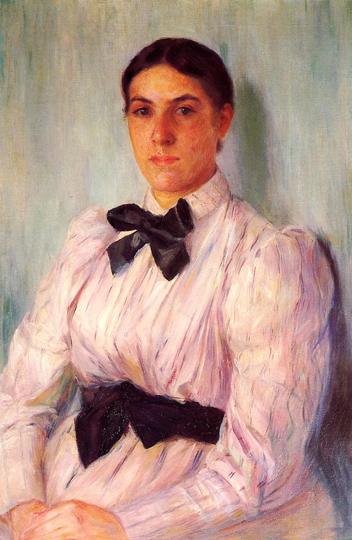 Portrait of Mrs. William Harrison 1890   Mary Cassatt   Oil Painting