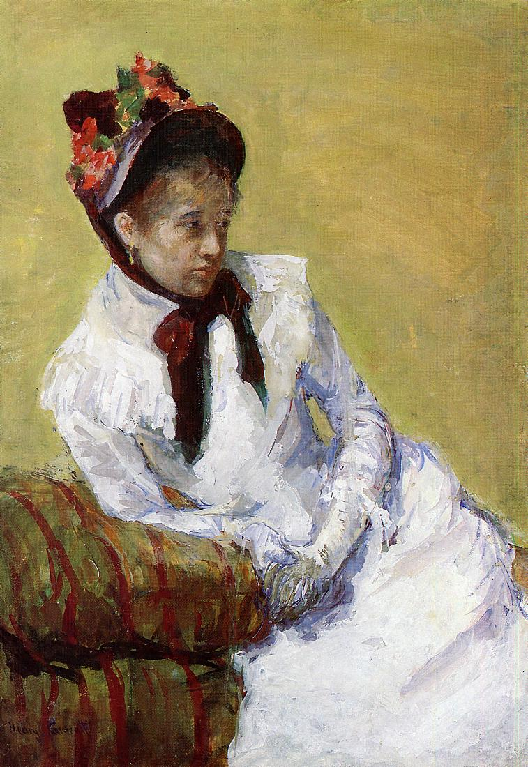 Portrait of the Artist 1878   Mary Cassatt   Oil Painting