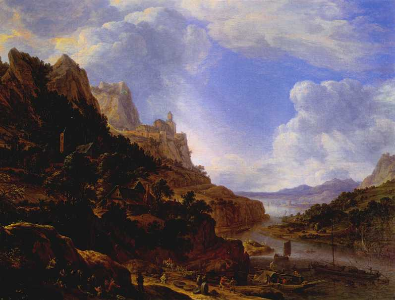 Rhineland Fantasy View 1650 | Herman Saftleven | Oil Painting