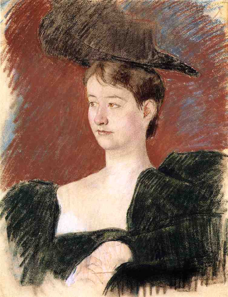 Potrait of a Young Woman in Green 1898 | Mary Cassatt | Oil Painting