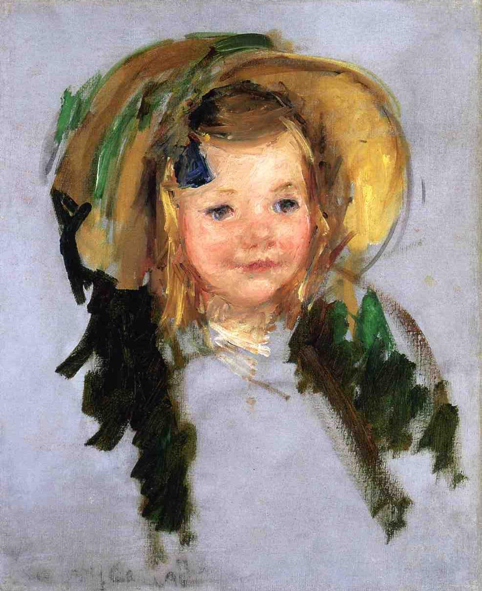 Sara in a Bonnet | Mary Cassatt | Oil Painting