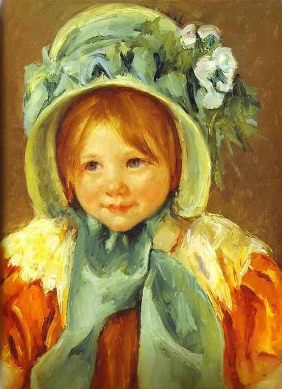 Sarah in a Green Bonnet 1901 | Mary Cassatt | Oil Painting