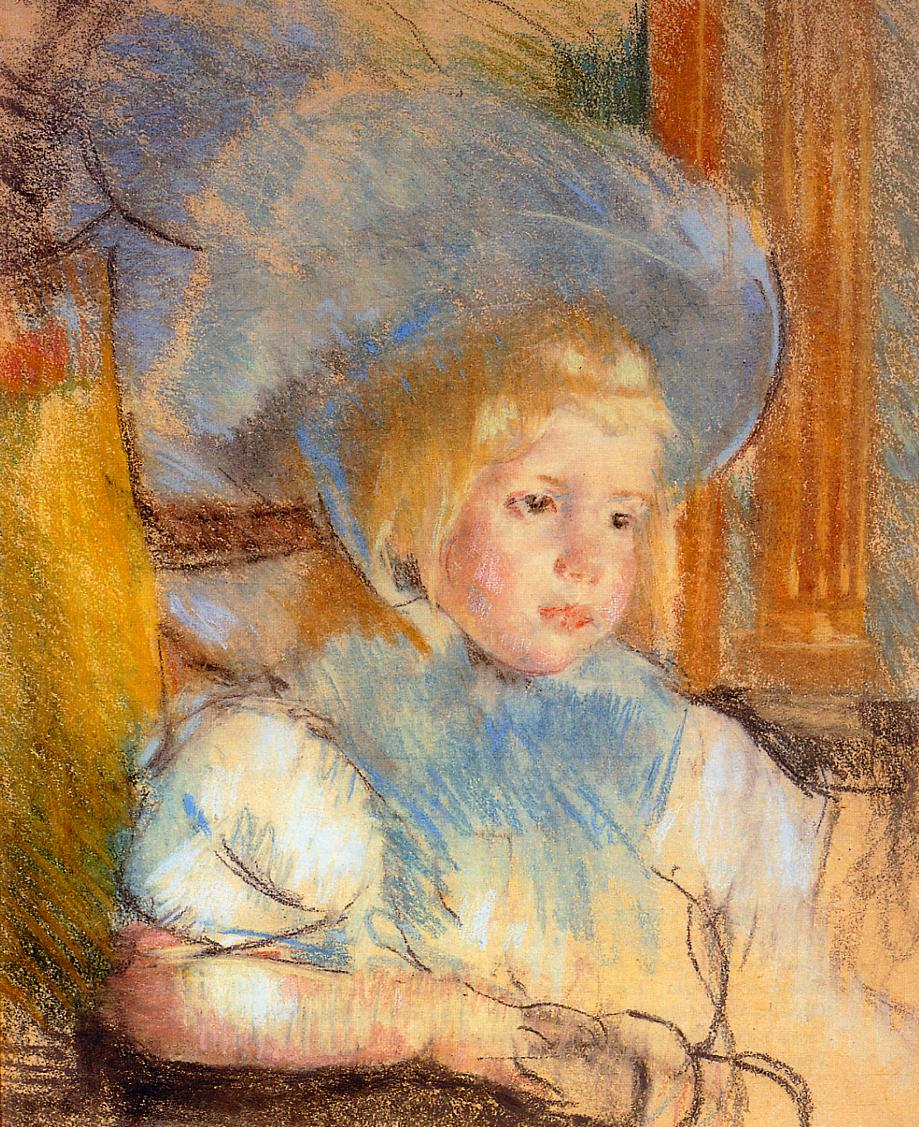 Simone in Plumed Hat 1903 | Mary Cassatt | Oil Painting