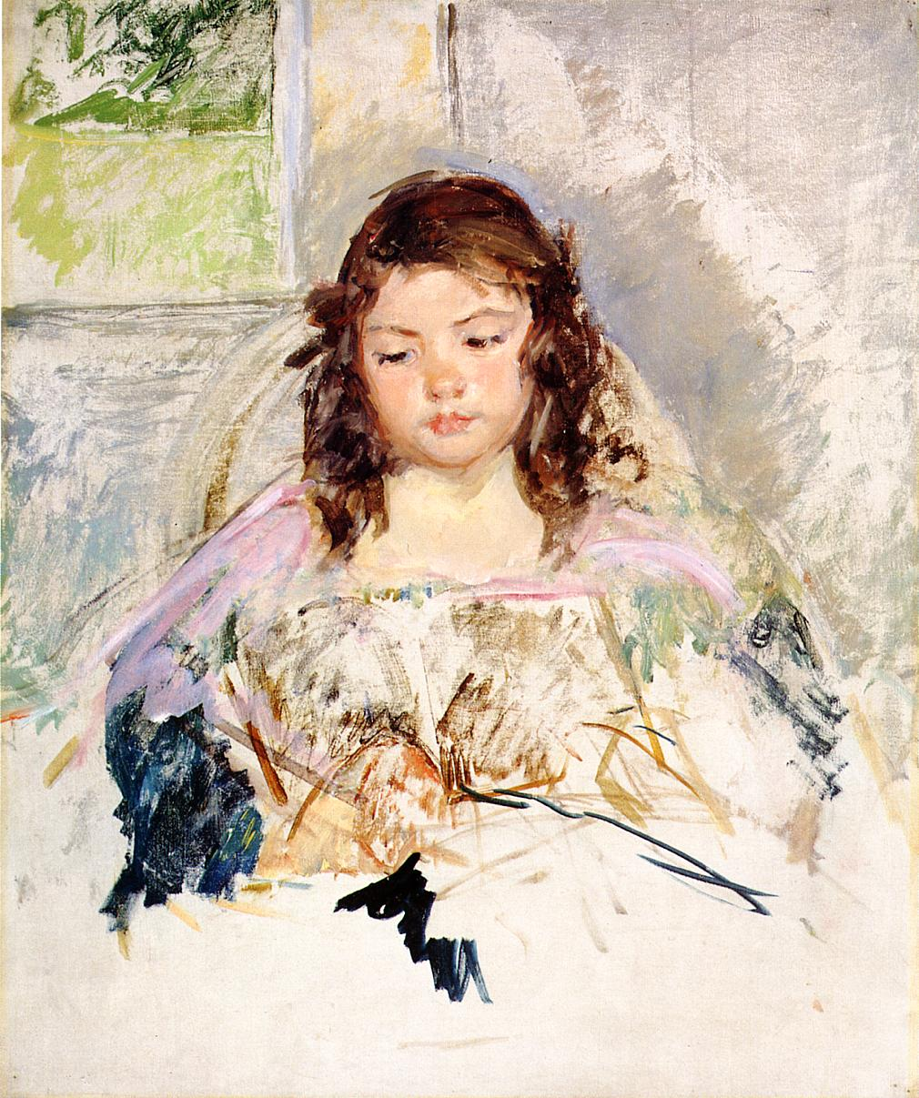 Sketch for 'Francoise in a Round-Backed Chair Reading 1908 | Mary Cassatt | Oil Painting
