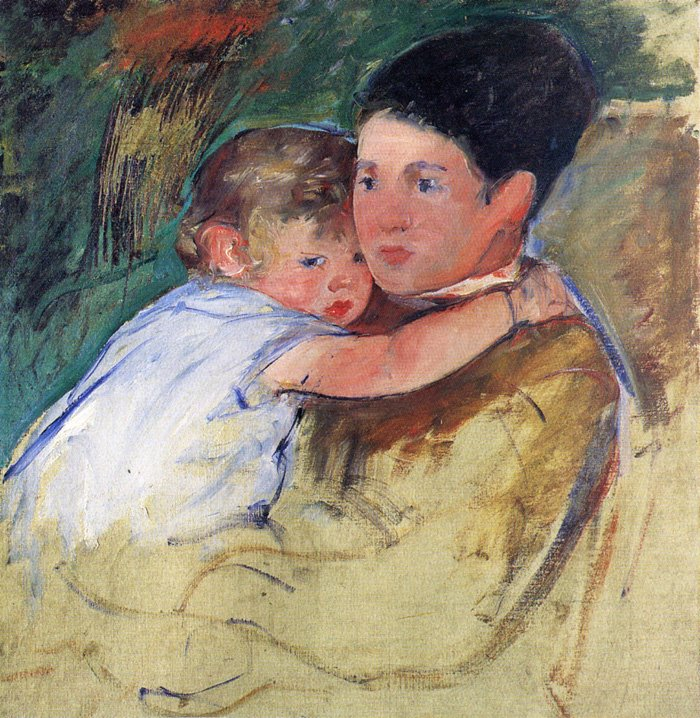 Sketch of Anne and Her Nurse 1897 | Mary Cassatt | Oil Painting
