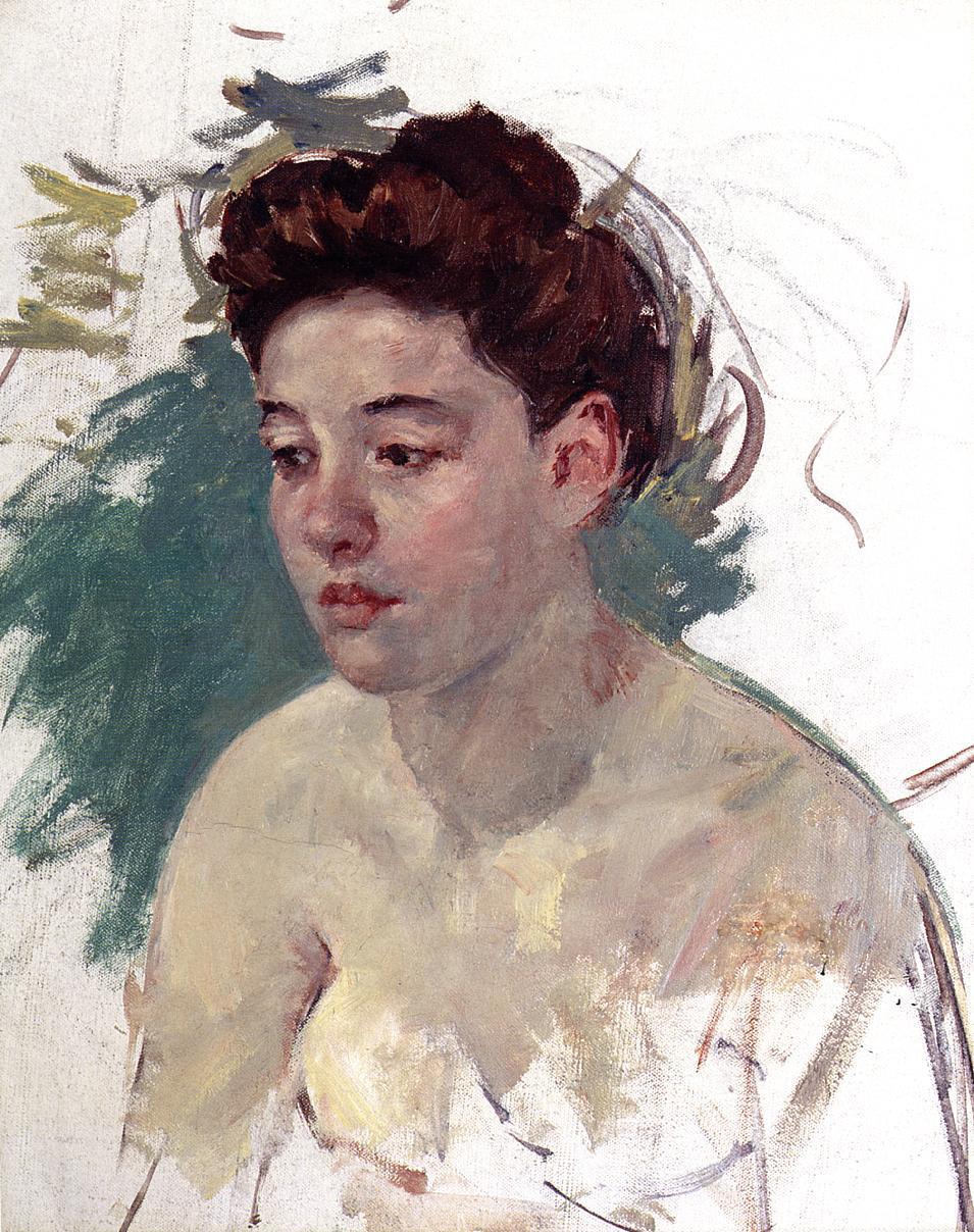 Sketch of Antoinette (no.1) 1901 | Mary Cassatt | Oil Painting