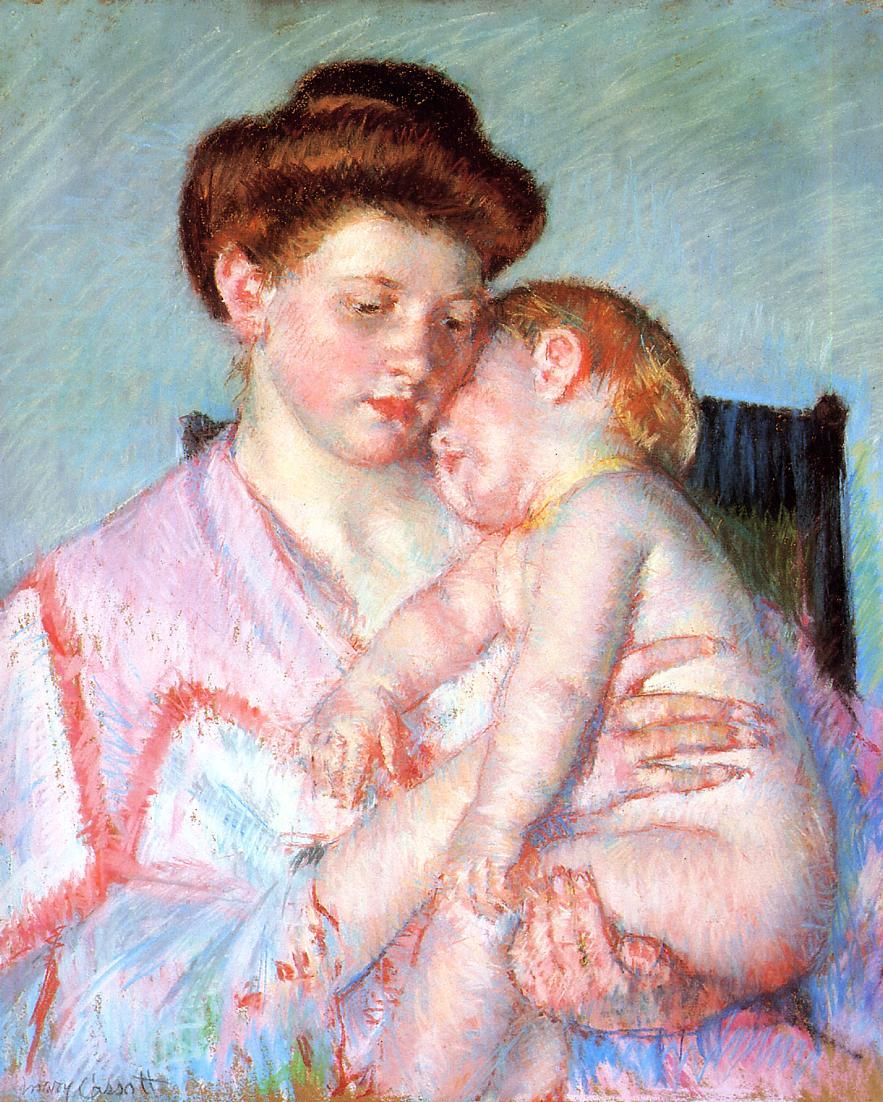 Sleepy Baby 1910 | Mary Cassatt | Oil Painting