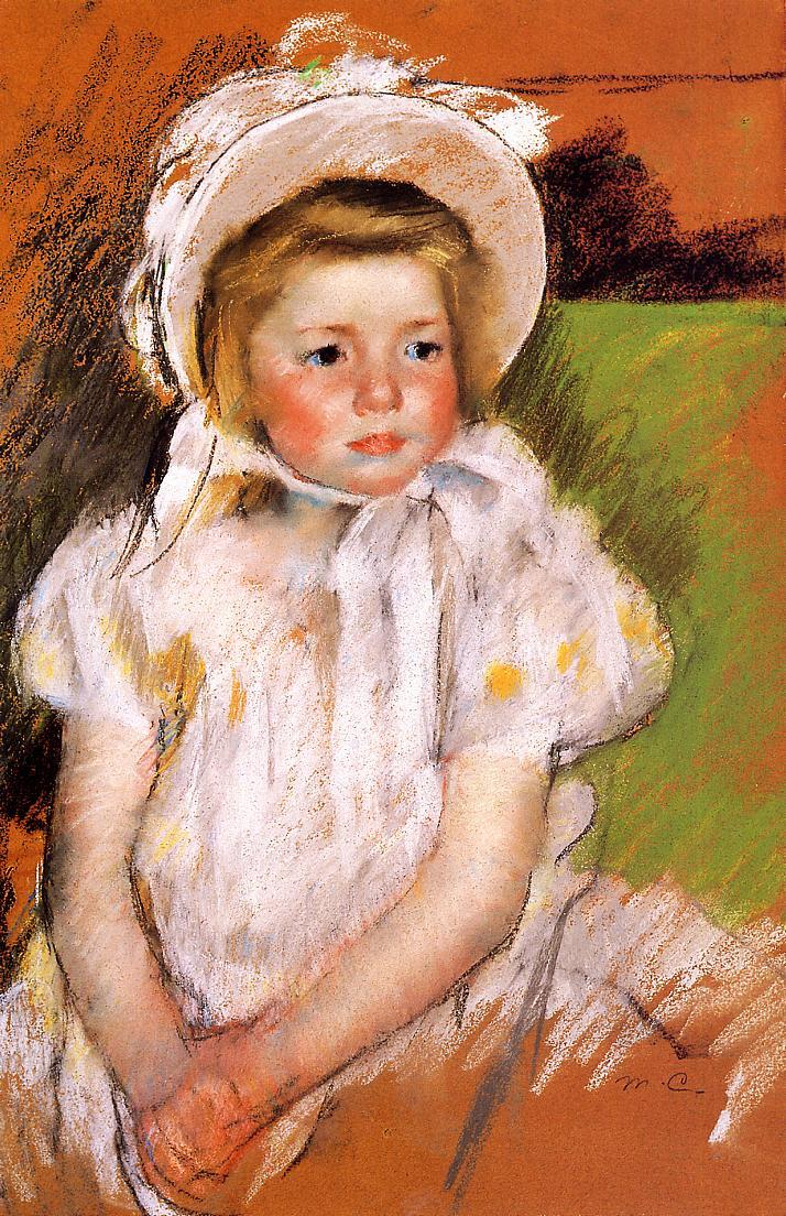 Somone in a White Bonnet 1901 | Mary Cassatt | Oil Painting