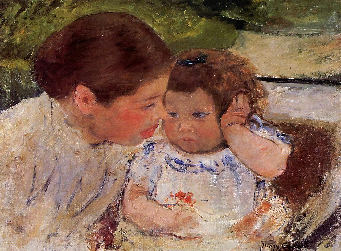 Susan Comforting the Baby (no.1) 1881 | Mary Cassatt | Oil Painting