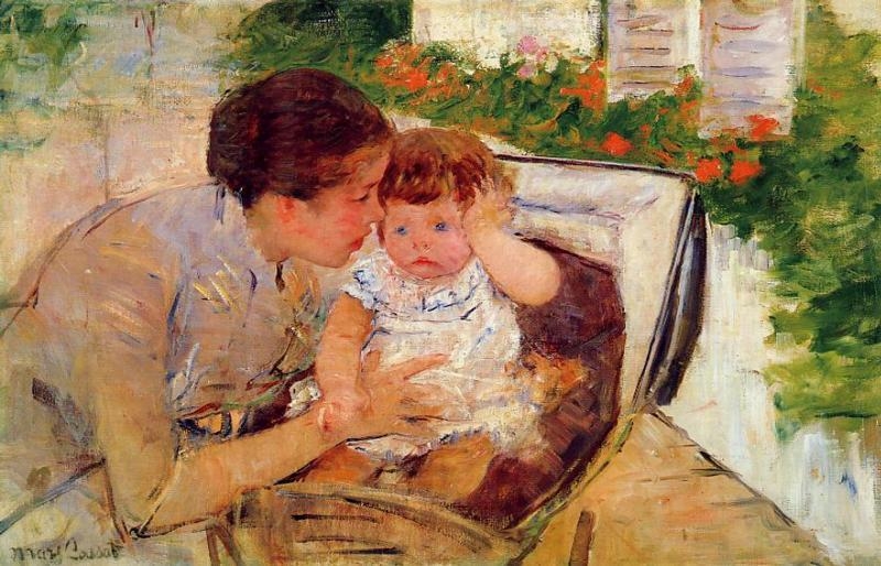 Susan Comforting the Baby (no.2) 1881 | Mary Cassatt | Oil Painting