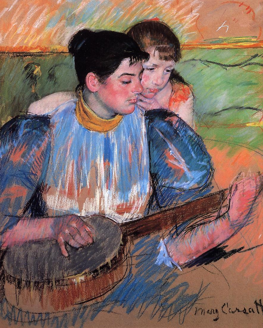 The Banjo Lesson 1893-1894 | Mary Cassatt | Oil Painting