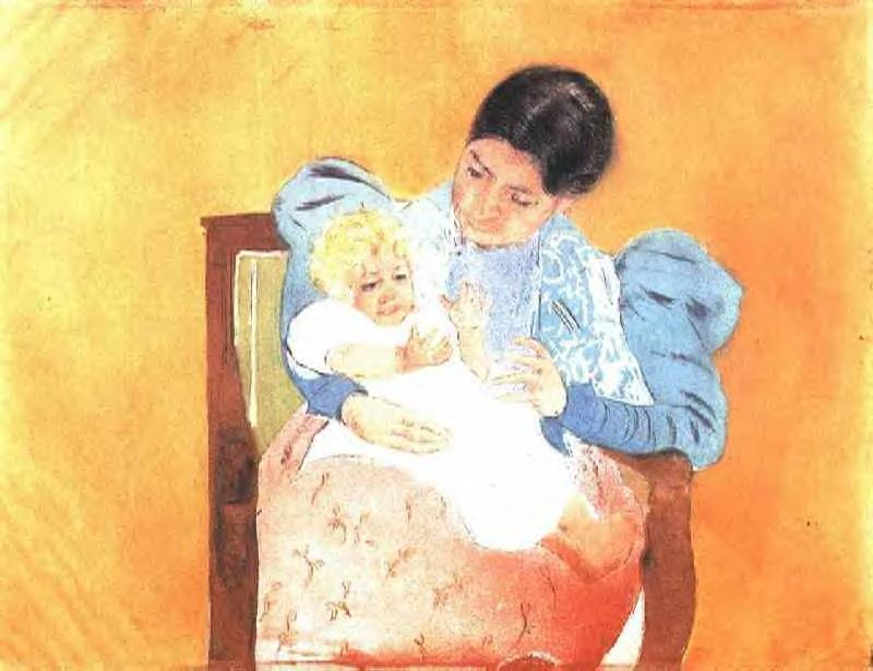 The Barefoot Child 1896-1897 | Mary Cassatt | Oil Painting