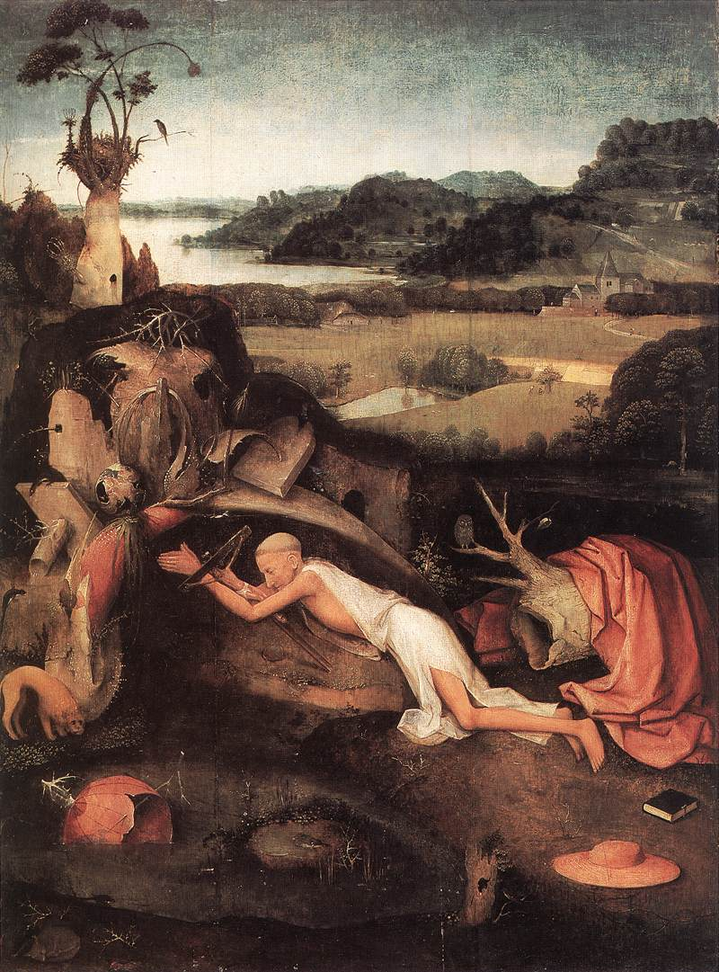 St Jerome In Prayer C1505 | Hieronymus Bosch | Oil Painting