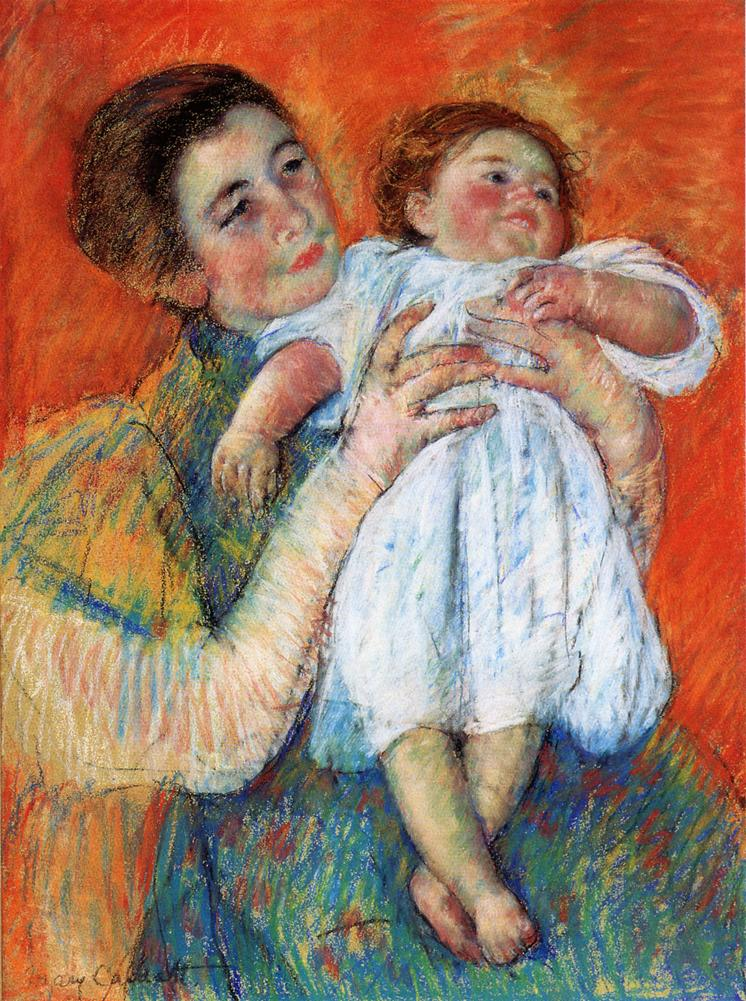 The Barefoot Child 1897 | Mary Cassatt | Oil Painting