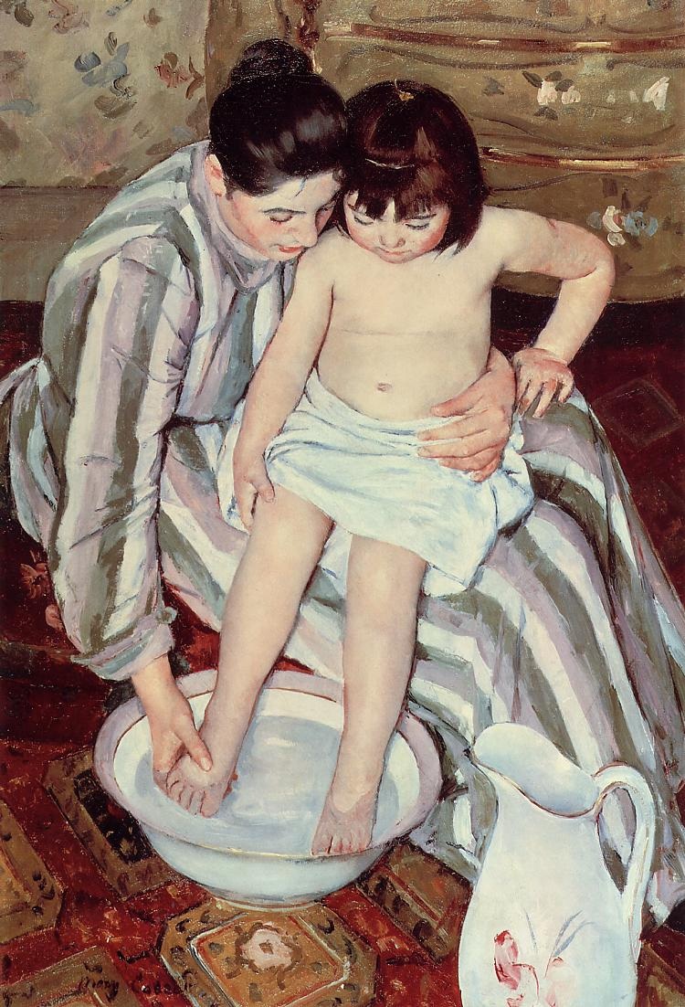The Child's Bath 1893 | Mary Cassatt | Oil Painting