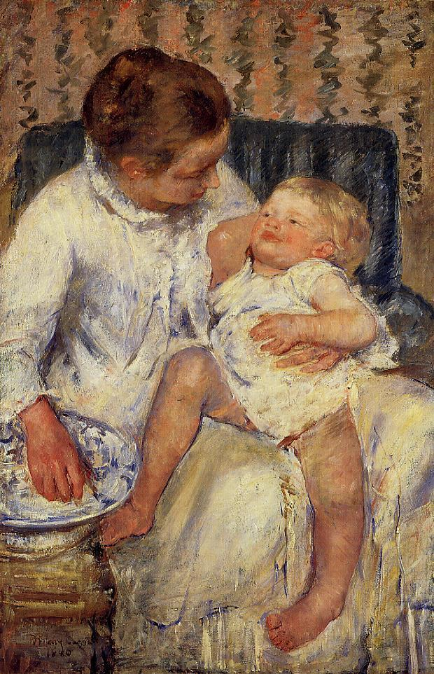 The Child's Bath 1880 | Mary Cassatt | Oil Painting