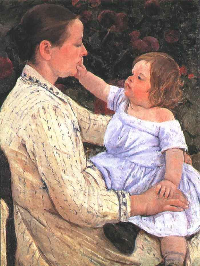 The Child's Caress 1890 | Mary Cassatt | Oil Painting