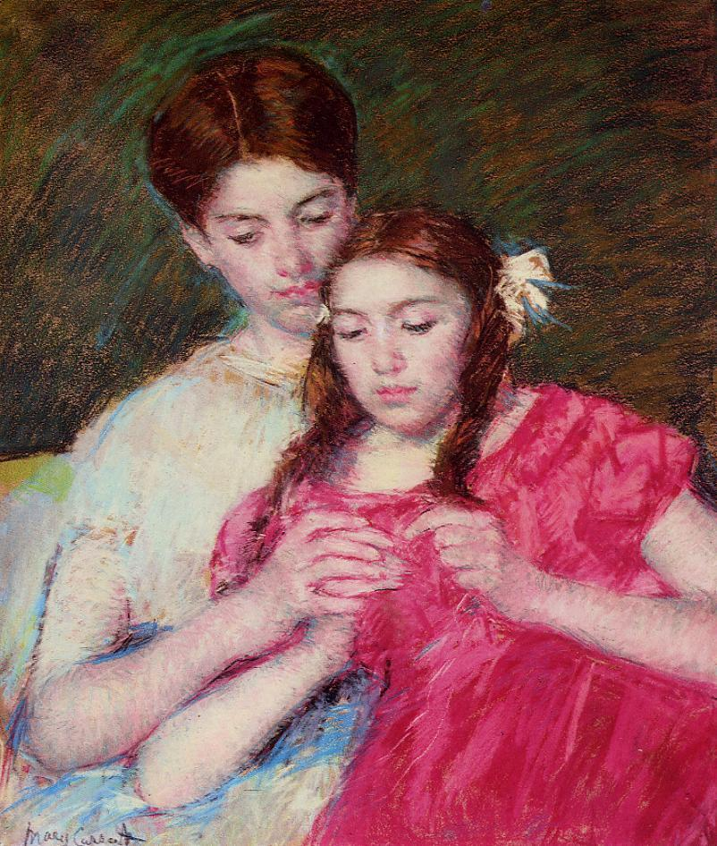 The Chrochet Lesson 1913 | Mary Cassatt | Oil Painting