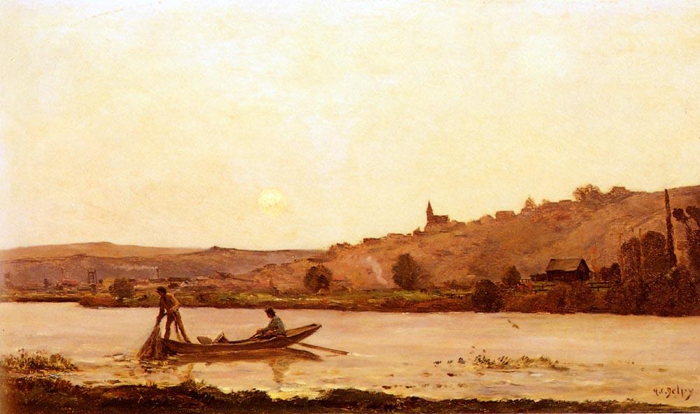 Bord De L Oise | Hippolyte Camille Delpy | Oil Painting