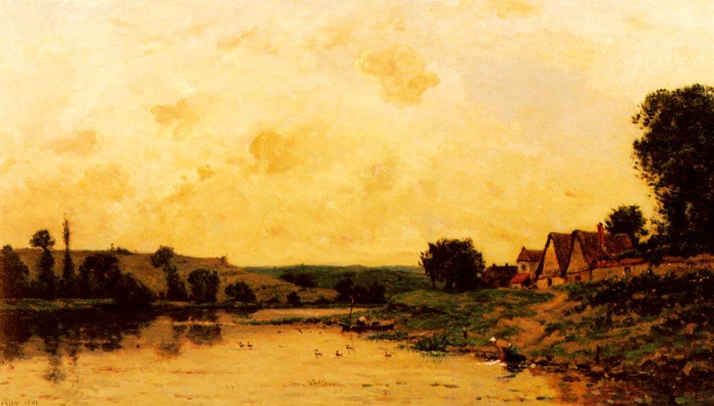 Lavandiere Au Bord De La Riviere | Hippolyte Camille Delpy | Oil Painting