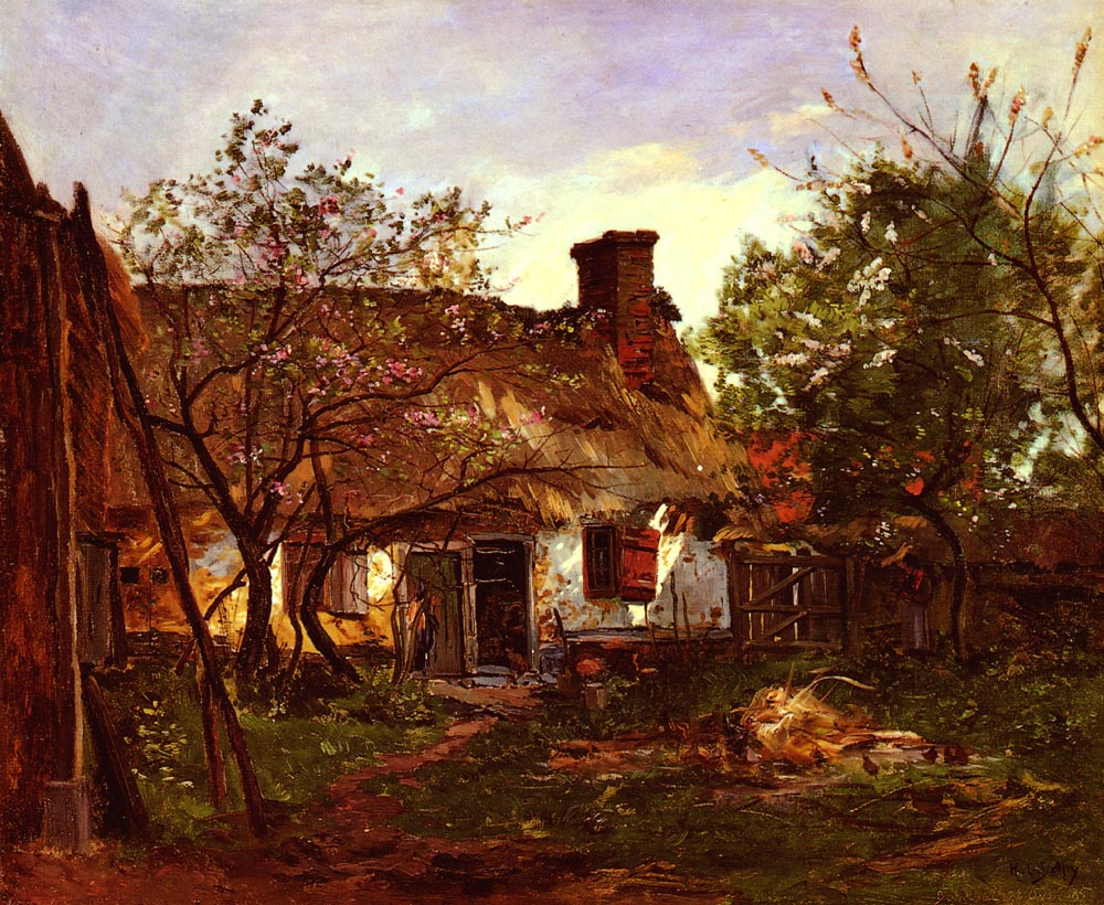 La Chaumiere A Berneval | Hippolyte Camille Delpy | Oil Painting