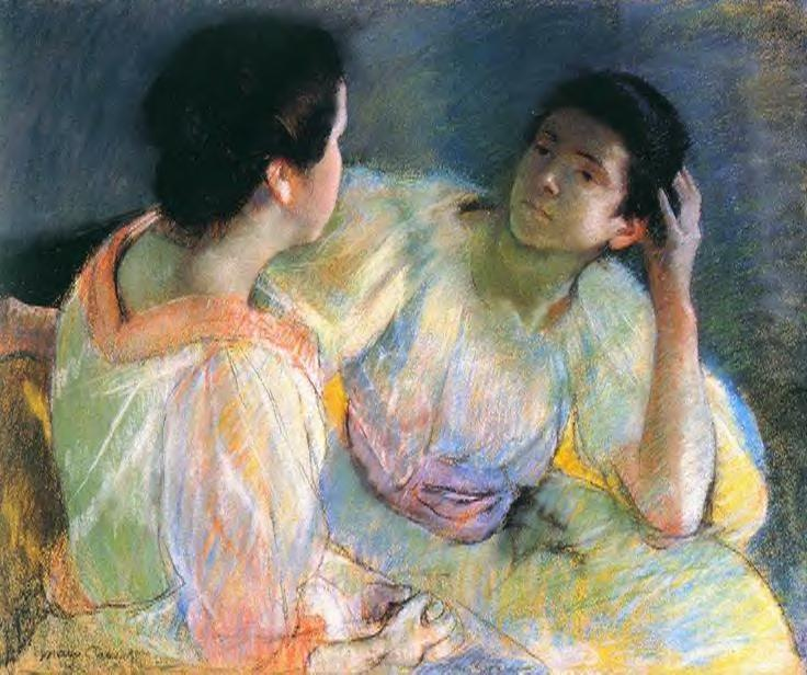 The Conversation 1896 | Mary Cassatt | Oil Painting
