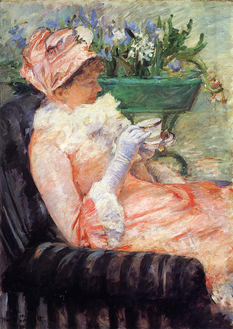 The Cup of Tea 1879 | Mary Cassatt | Oil Painting