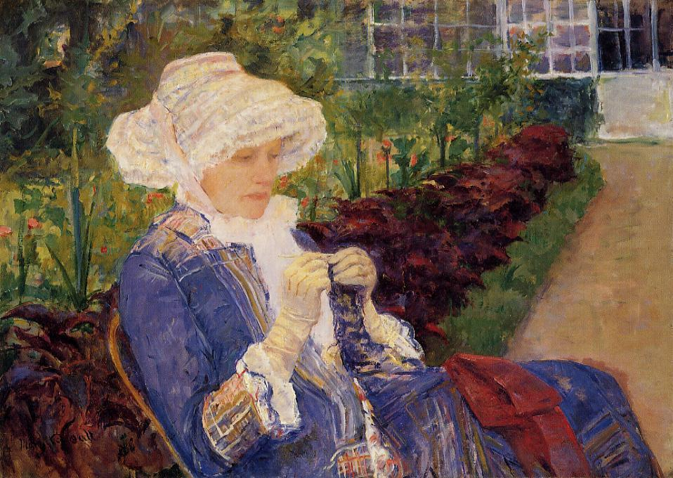 The Garden 1880 | Mary Cassatt | Oil Painting