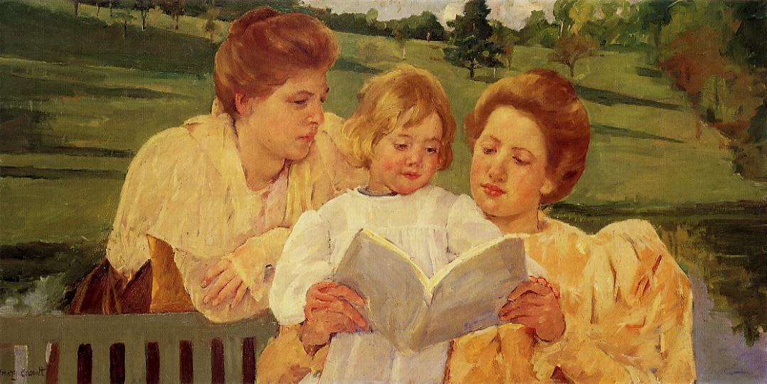 The Garden Reading 1898 | Mary Cassatt | Oil Painting