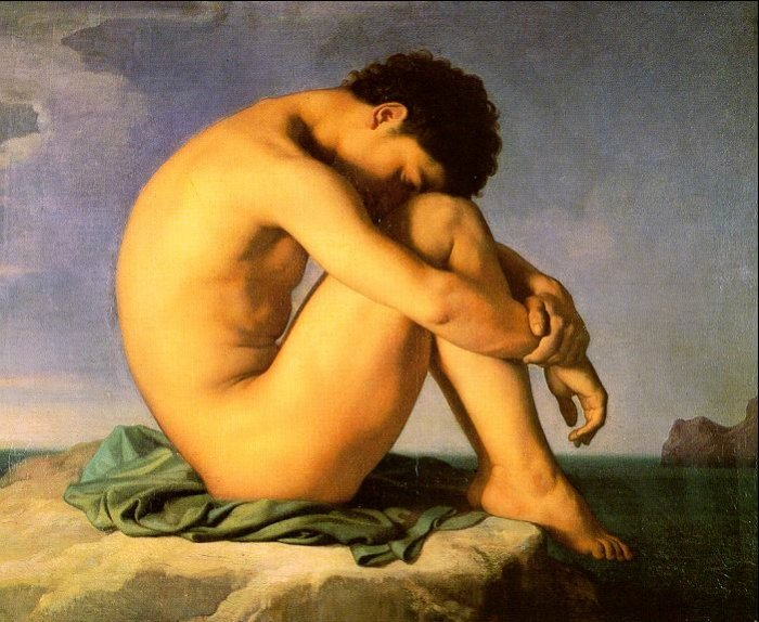 Young Male Nude 1855 | Hippolyte Flandrin | Oil Painting