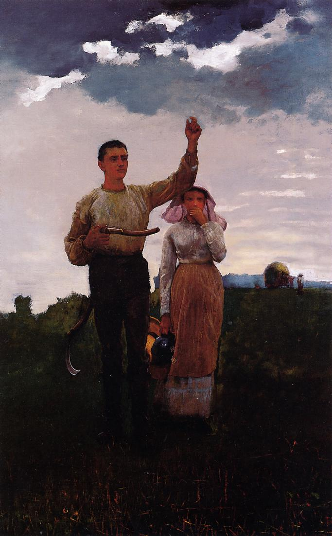 Answering the Horn (aka The Home Signal) 1876 | Homer Winslow | Oil Painting