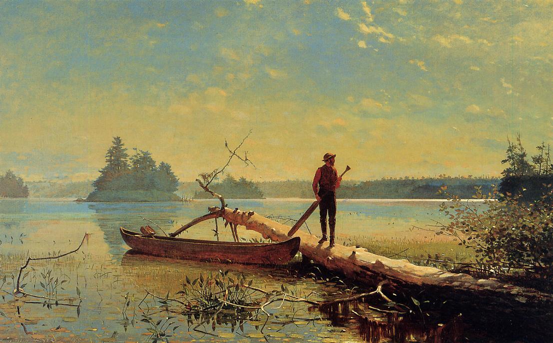 An Adirondack Lake 1870 | Homer Winslow | Oil Painting