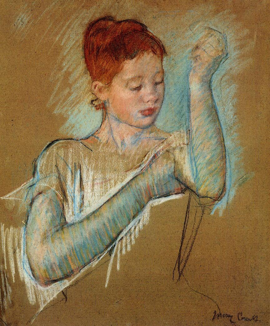 The Long Gloves 1889 | Mary Cassatt | Oil Painting