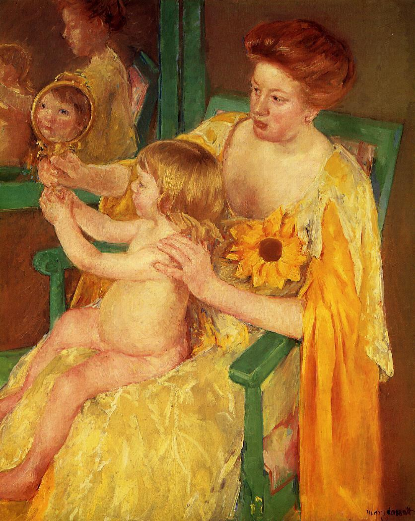 The Mirror 1905 | Mary Cassatt | Oil Painting