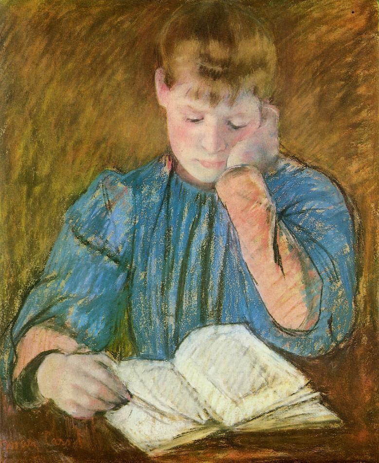 The Pensive Reader 1894 | Mary Cassatt | Oil Painting