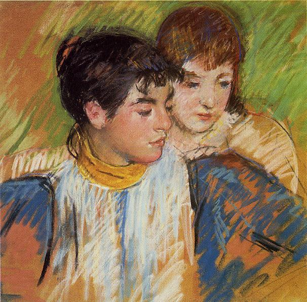 The Two Sisters 1893-1894 | Mary Cassatt | Oil Painting