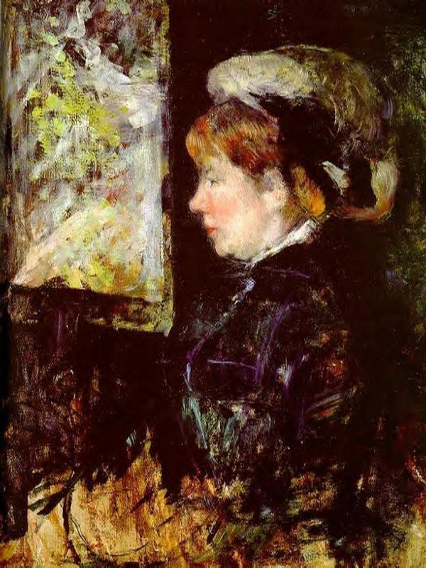 The Visitor 1880 | Mary Cassatt | Oil Painting