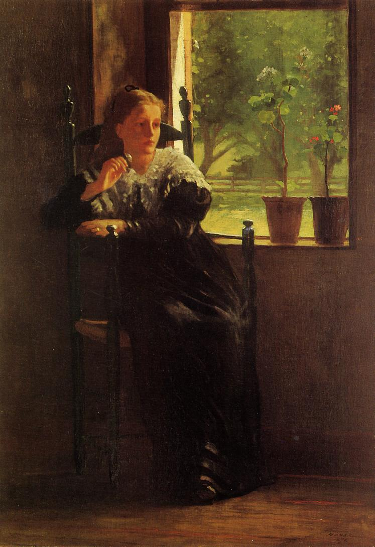 At the Window 1872 | Homer Winslow | Oil Painting