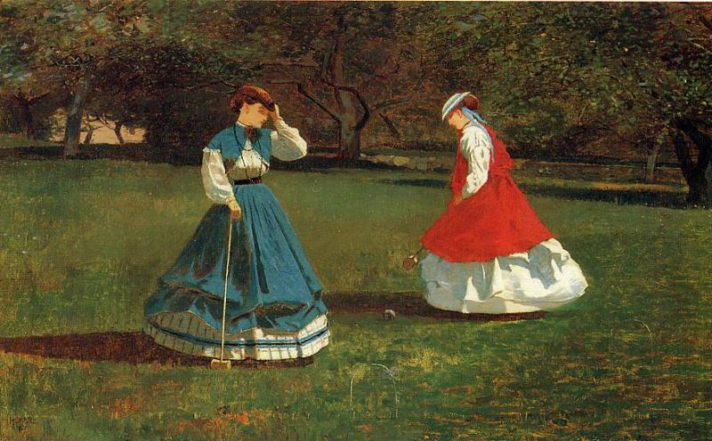 A Game of Croquet 1866 | Homer Winslow | Oil Painting