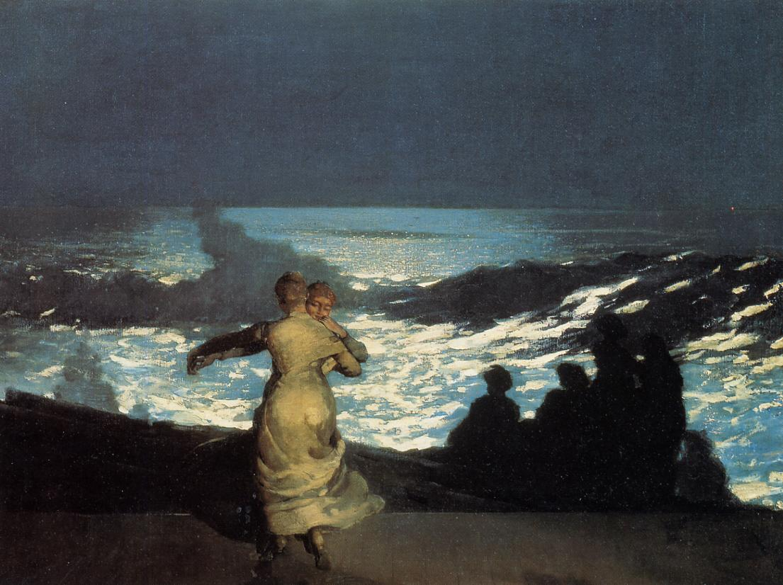 A Summer Night 1890   Homer Winslow   Oil Painting