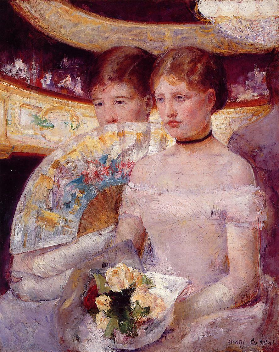 Two Women in a Theater Box 1881-1882 | Mary Cassatt | Oil Painting