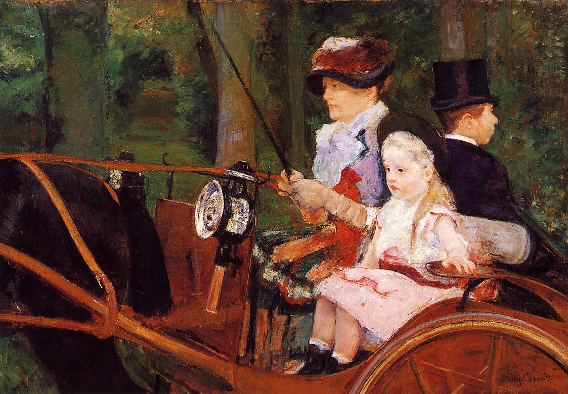 Woman and Child Driving 1881 | Mary Cassatt | Oil Painting