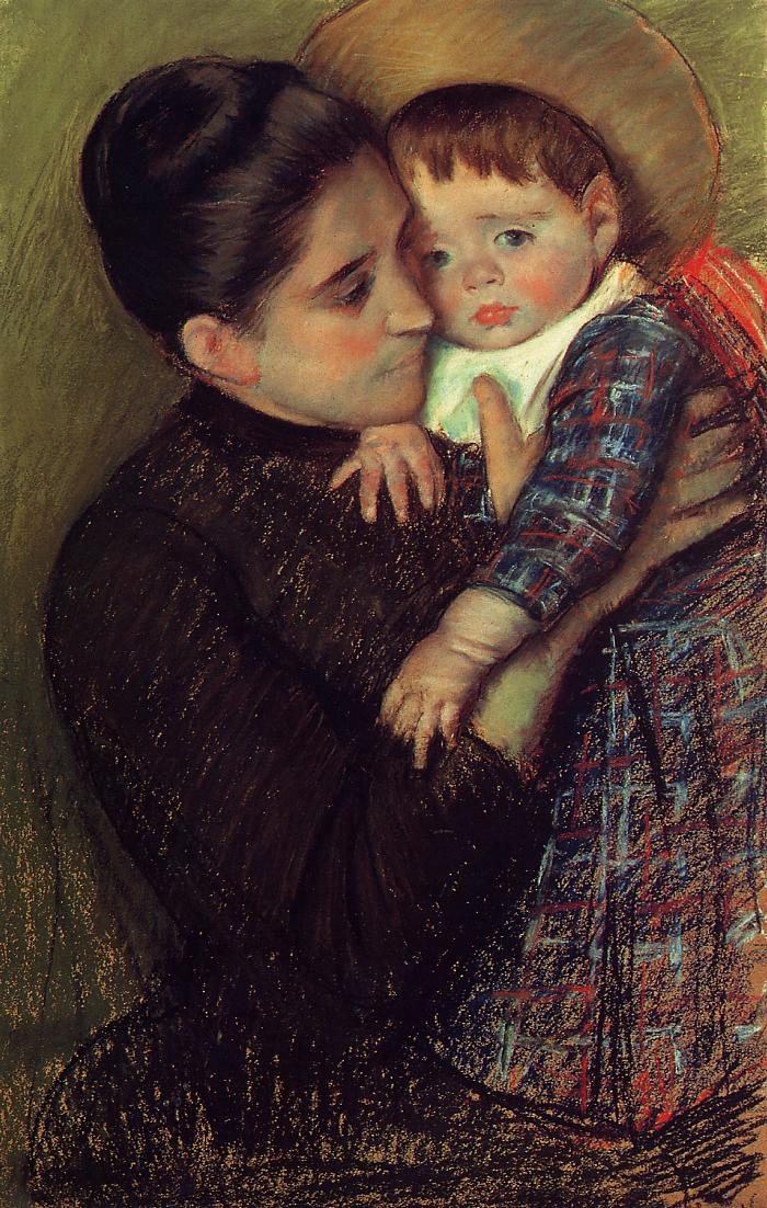 Woman and Her Child (aka Helene de Septeuil) 1889-1890 | Mary Cassatt | Oil Painting