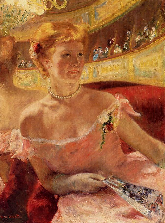 Woman in a Loge 1878-1879 | Mary Cassatt | Oil Painting