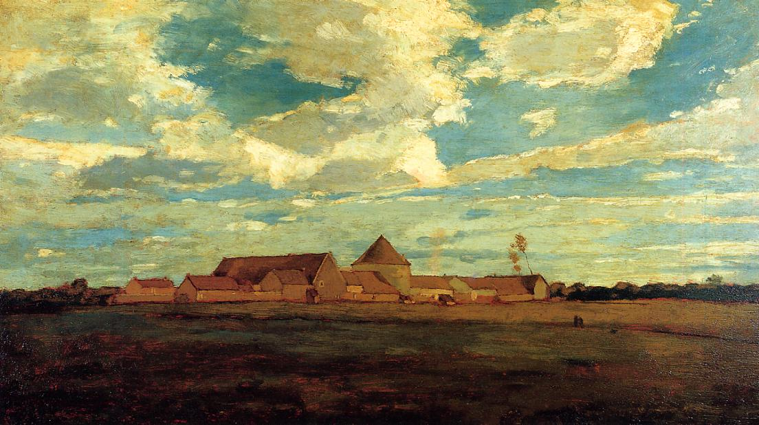 Cernay la Ville - French Farm 1867 | Homer Winslow | Oil Painting