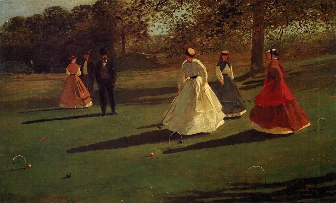Croquet Players 1865 | Homer Winslow | Oil Painting