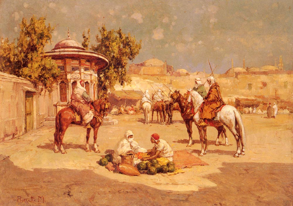 Warriors In A Market Square | Matteo da Angelo Rossotti | Oil Painting