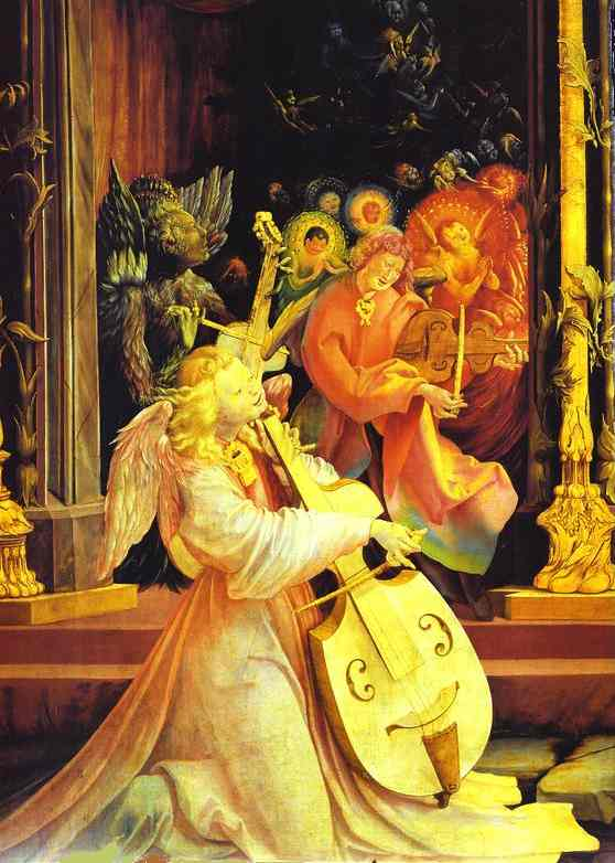 Concert Of Angels Detail 1 1510-1515 | Matthias Grunewald | Oil Painting