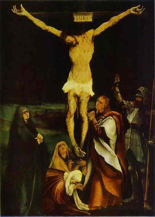 Crucifixion 1510s | Matthias Grunewald | Oil Painting